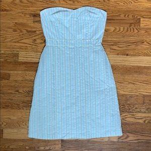 Tibi strapless striped dress
